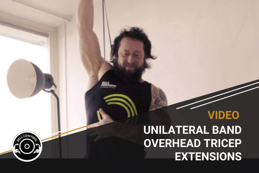 Unilateral Band Overhead Tricep Extensions