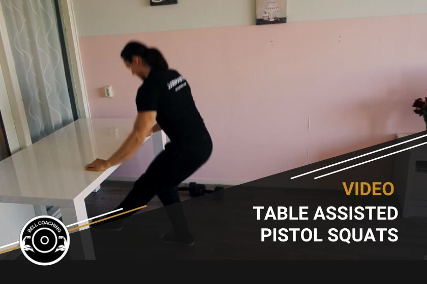 Table Assisted Pistol Squats