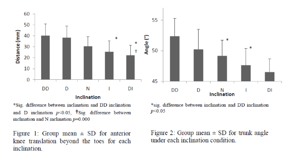 effect verhoogde hak squat schoen op squat kinematica