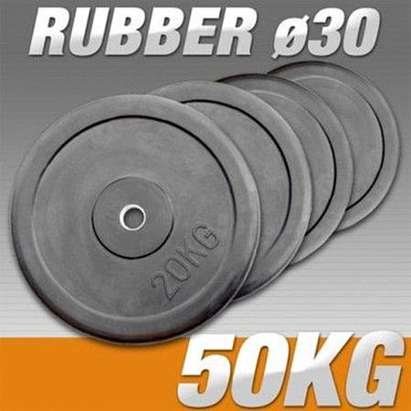 halter schijven 30 mm rubber home gym