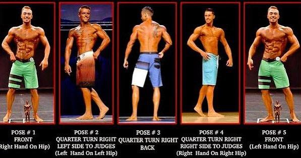men's physique poseren