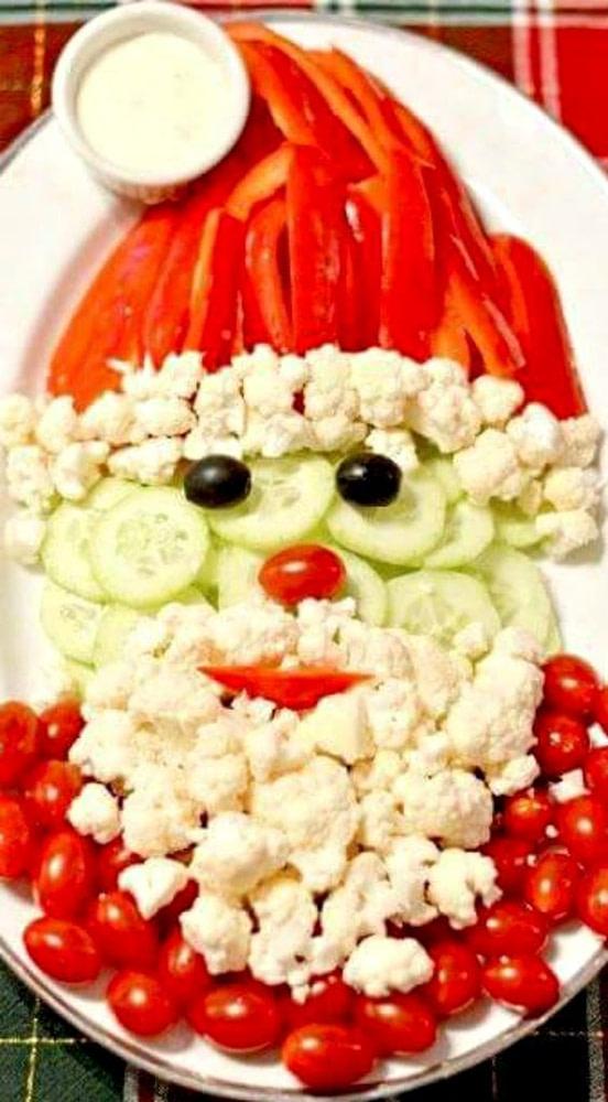 kerstman-groente-tafel