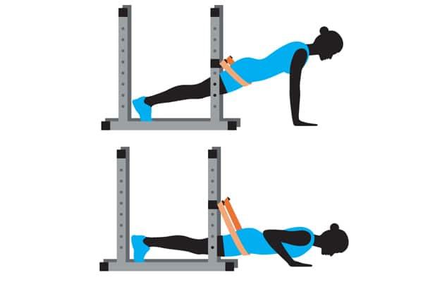push up met weerstandsband